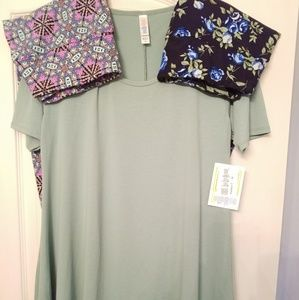 NWT LuLaRoe Perfect T sz in solid green